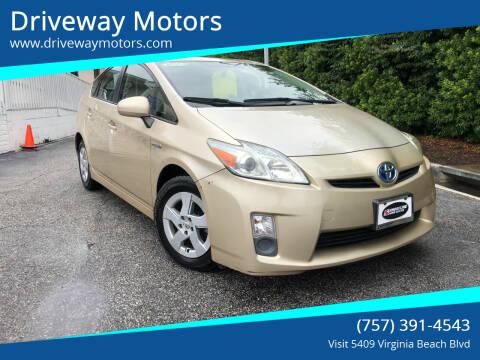 2011 Toyota Prius for sale at Driveway Motors in Virginia Beach VA