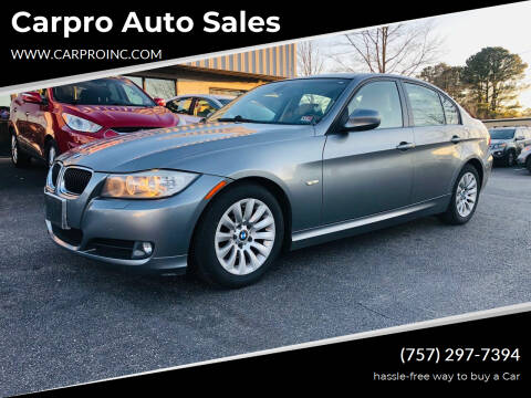2009 BMW 3 Series for sale at Carpro Auto Sales in Chesapeake VA
