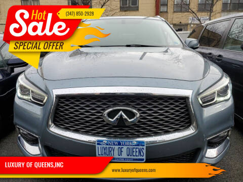 2017 Infiniti QX60 for sale at LUXURY OF QUEENS,INC in Long Island City NY