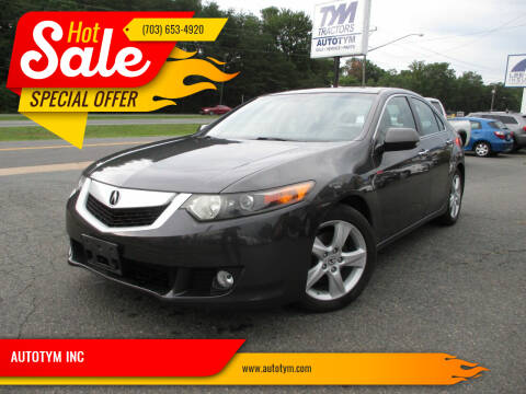 2009 Acura TSX for sale at AUTOTYM INC in Fredericksburg VA