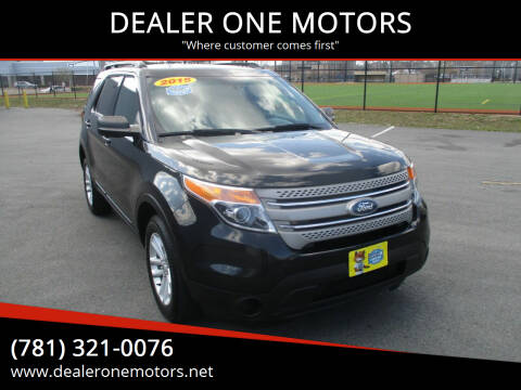 2015 Ford Explorer for sale at DEALER ONE MOTORS in Malden MA