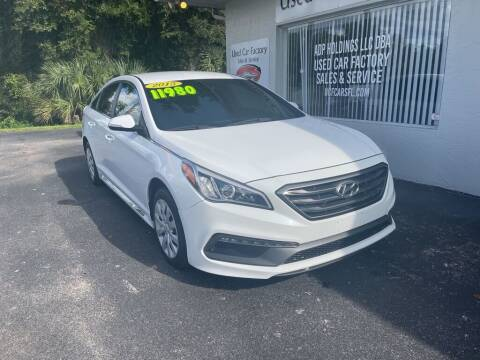 2015 Hyundai Sonata for sale at Used Car Factory Sales & Service in Port Charlotte FL