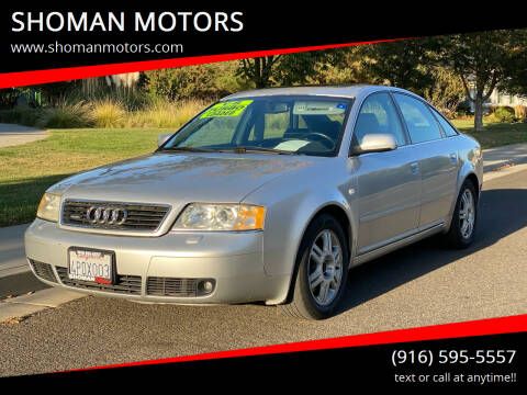 2001 Audi A6 for sale at SHOMAN MOTORS in Davis CA