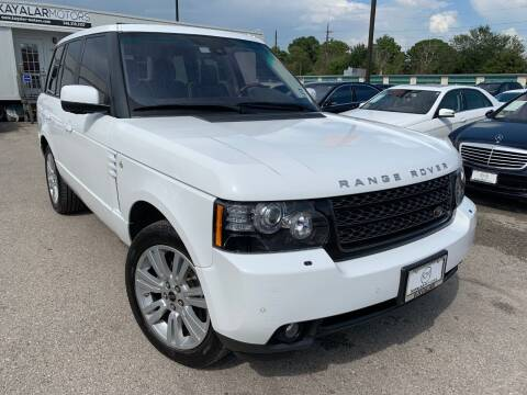 2012 Land Rover Range Rover for sale at KAYALAR MOTORS in Houston TX