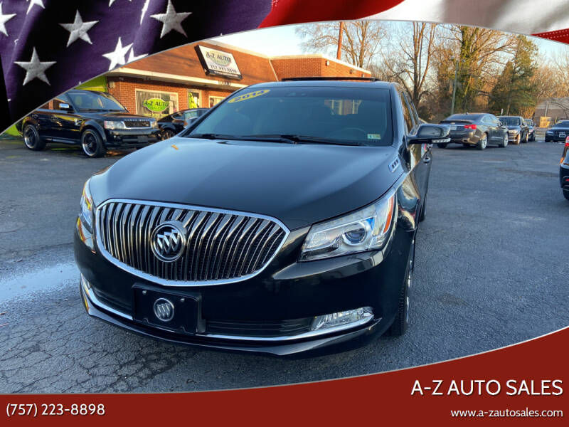 2014 Buick LaCrosse for sale at A-Z Auto Sales in Newport News VA