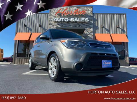 2015 Kia Soul for sale at HORTON AUTO SALES, LLC in Linn MO