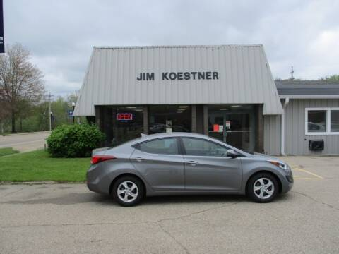 2014 Hyundai Elantra for sale at JIM KOESTNER INC in Plainwell MI