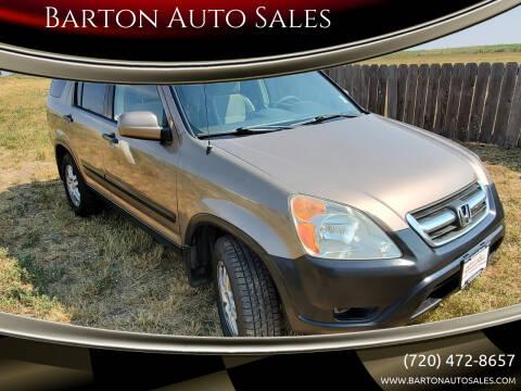 2003 Honda CR-V for sale at Barton Auto Sales in Longmont CO
