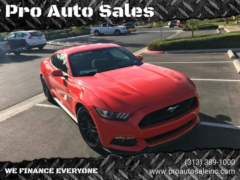 2015 Ford Mustang for sale at Pro Auto Sales in Lincoln Park MI