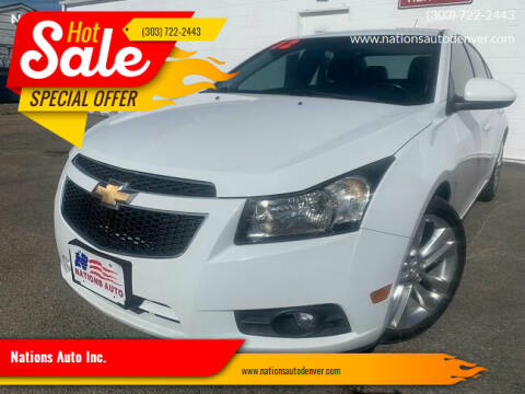2012 Chevrolet Cruze for sale at Nations Auto Inc. in Denver CO