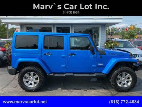 2015 Jeep Wrangler Unlimited for sale at Marv`s Car Lot Inc. in Zeeland MI