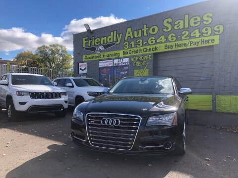 2014 Audi S8 for sale at Friendly Auto Sales in Detroit MI