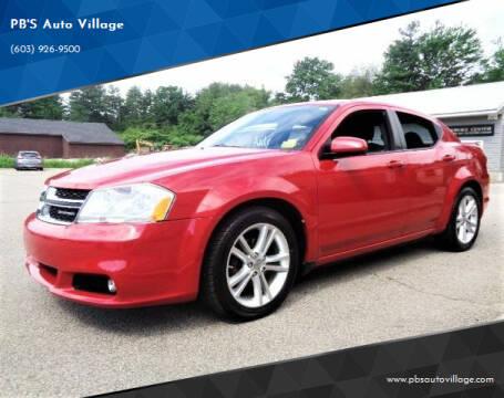 2012 Dodge Avenger for sale at PB'S Auto Village in Hampton Falls NH