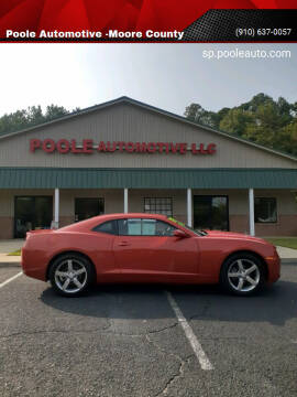 2012 Chevrolet Camaro for sale at Poole Automotive in Laurinburg NC