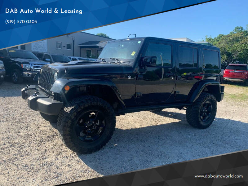 2015 Jeep Wrangler Unlimited for sale at DAB Auto World & Leasing in Wake Forest NC