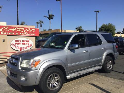 2007 Toyota Sequoia for sale at CARCO SALES & FINANCE in Chula Vista CA