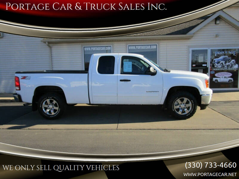 2013 GMC Sierra 1500 for sale at Portage Car & Truck Sales Inc. in Akron OH