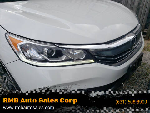 2017 Honda Accord for sale at RMB Auto Sales Corp in Copiague NY