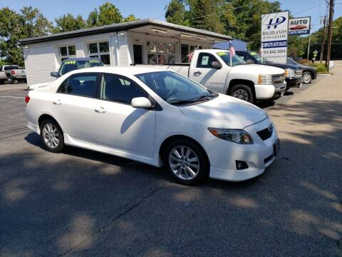 2010 Toyota Corolla for sale at Highlands Auto Gallery in Braintree MA