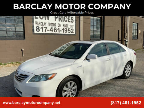 2008 Toyota Camry Hybrid for sale at BARCLAY MOTOR COMPANY in Arlington TX