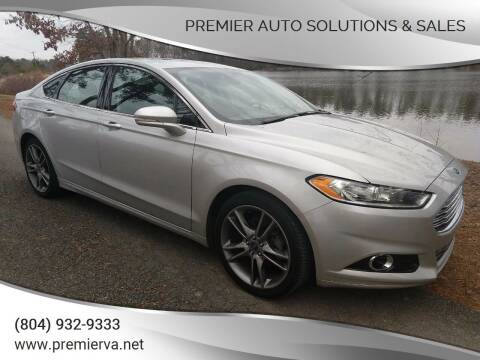 2014 Ford Fusion for sale at Premier Auto Solutions & Sales in Quinton VA