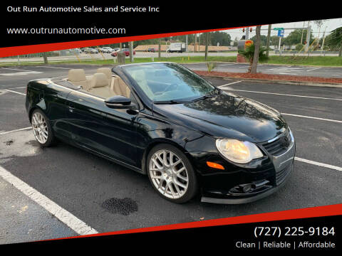 2009 Volkswagen Eos for sale at Out Run Automotive Sales and Service Inc in Tampa FL