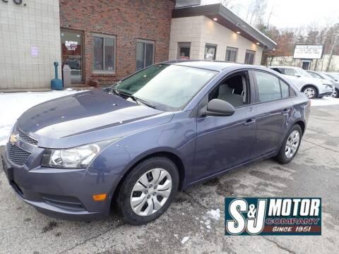 2013 Chevrolet Cruze for sale at S & J Motor Co Inc. in Merrimack NH