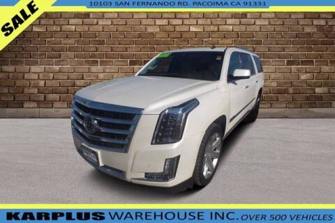 2015 Cadillac Escalade ESV for sale at Karplus Warehouse in Pacoima CA