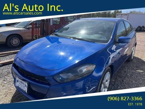2013 Dodge Dart for sale at Al's Auto Inc. in Bruce Crossing MI