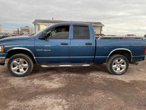 2003 Dodge Ram Pickup 1500 for sale at PYRAMID MOTORS - Fountain Lot in Fountain CO