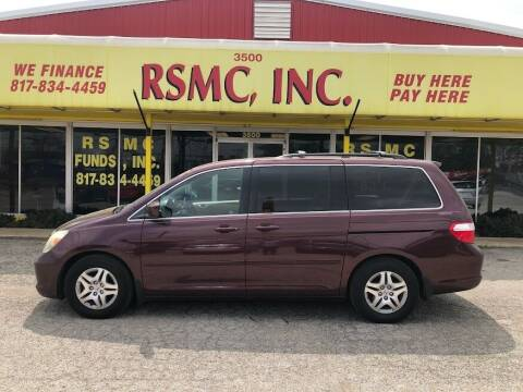 2007 Honda Odyssey for sale at Ron Self Motor Company in Fort Worth TX