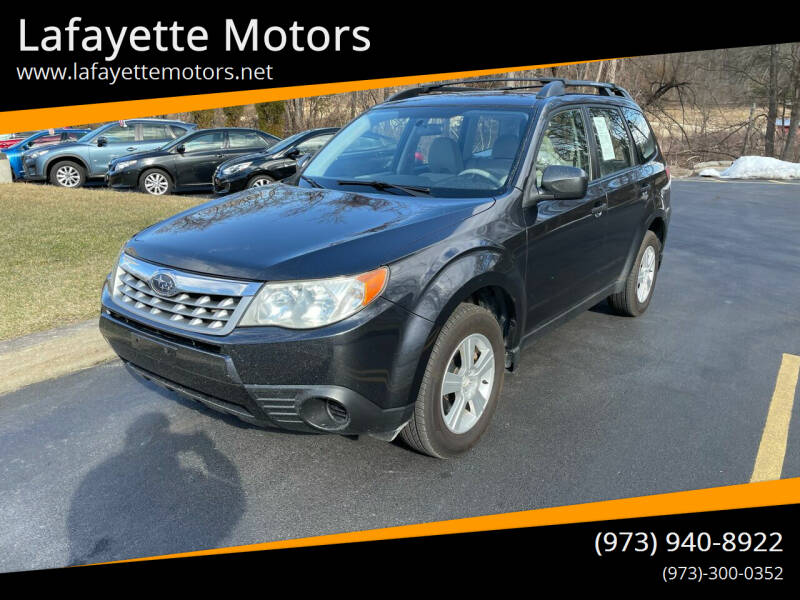 2012 Subaru Forester for sale at Lafayette Motors 2 in Andover NJ