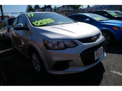 2017 Chevrolet Sonic for sale at M & R Auto Sales INC. in North Plainfield NJ