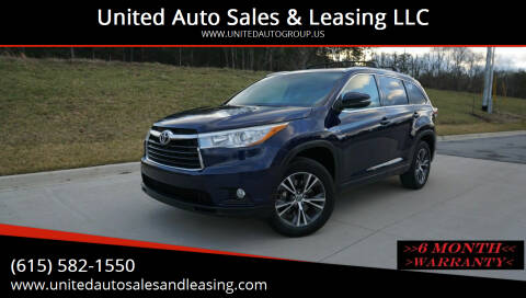 2016 Toyota Highlander for sale at United Auto Sales & Leasing LLC in La Vergne TN