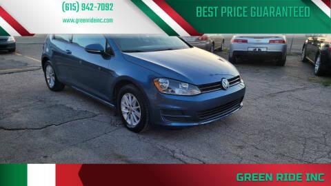 2015 Volkswagen Golf for sale at Green Ride Inc in Nashville TN