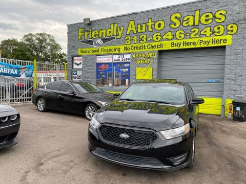 2016 Ford Taurus for sale at Friendly Auto Sales in Detroit MI