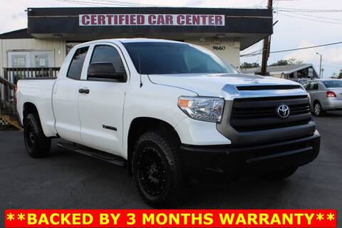 2017 Toyota Tundra for sale at CERTIFIED CAR CENTER in Fairfax VA