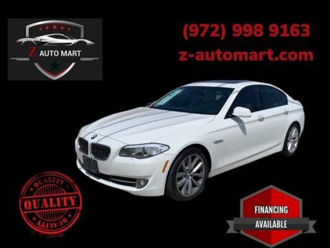 2011 BMW 5 Series for sale at Z AUTO MART in Lewisville TX