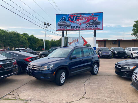 2016 Volkswagen Tiguan for sale at ANF AUTO FINANCE in Houston TX