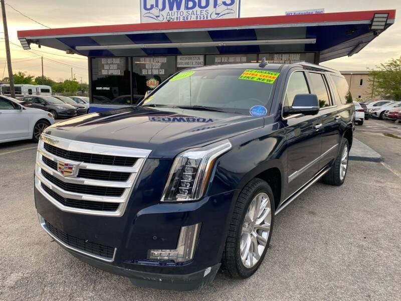 2018 Cadillac Escalade ESV for sale at Cow Boys Auto Sales LLC in Garland TX
