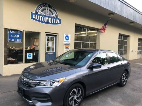 2017 Honda Accord for sale at HUDSON ROAD AUTOMOTIVE in Stow MA