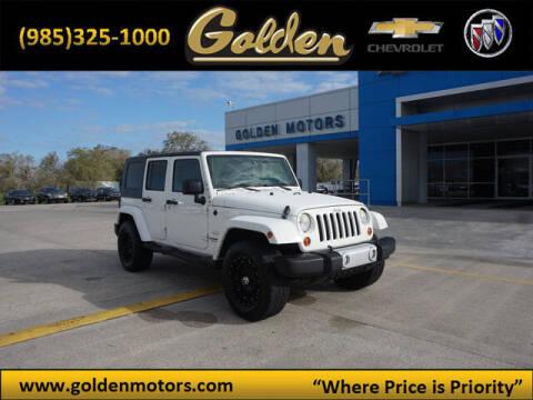 2010 Jeep Wrangler Unlimited for sale at GOLDEN MOTORS in Cut Off LA