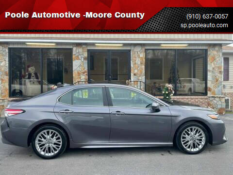 2020 Toyota Camry for sale at Poole Automotive -Moore County in Aberdeen NC