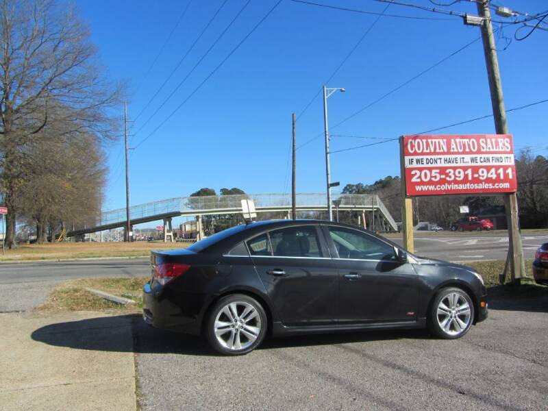 2013 Chevrolet Cruze for sale at Colvin Auto Sales in Tuscaloosa AL