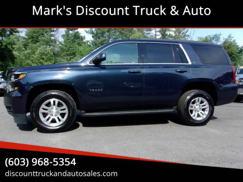 2017 Chevrolet Tahoe for sale at Mark's Discount Truck & Auto in Londonderry NH