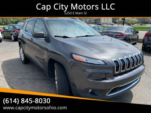 2014 Jeep Cherokee for sale at Cap City Motors LLC in Columbus OH