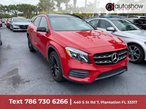 2018 Mercedes-Benz GLA for sale at AUTOSHOW SALES & SERVICE in Plantation FL