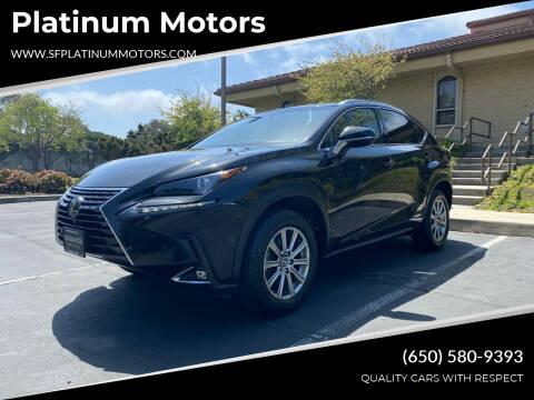 2018 Lexus NX 300h for sale at Platinum Motors in San Bruno CA
