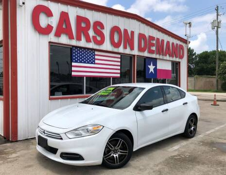 2016 Dodge Dart for sale at Cars On Demand in Pasadena TX