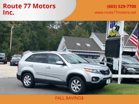 2013 Kia Sorento for sale at Route 77 Motors Inc. in Weare NH